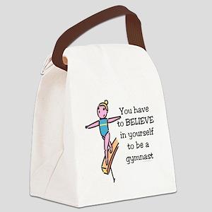 Believe Gymnastics Canvas Lunch Bag