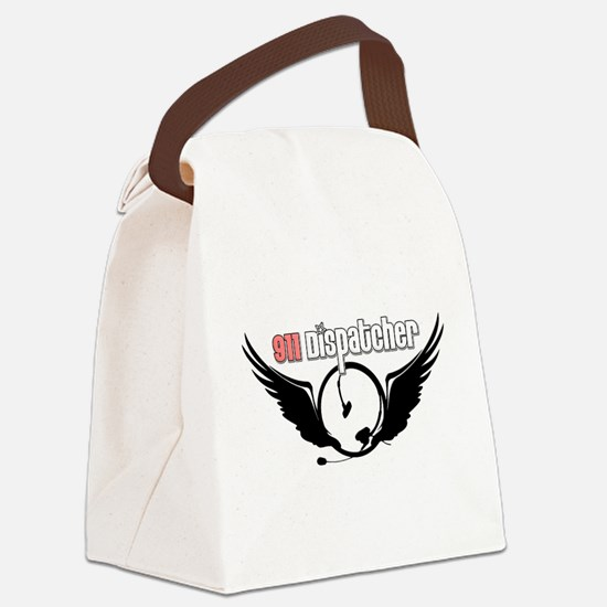911 Dispatcher Angel Headset Canvas Lunch Bag