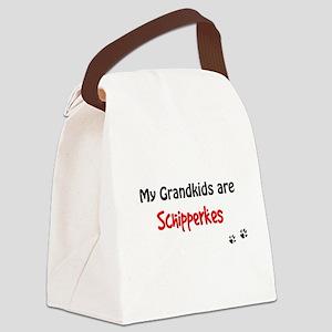 Schipperke Grandkids Canvas Lunch Bag