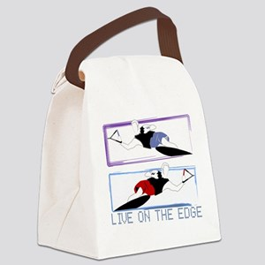 Live on the edge Slalom Canvas Lunch Bag