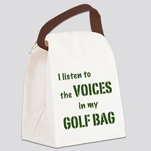 Voices in My Golf Bag Canvas Lunch Bag
