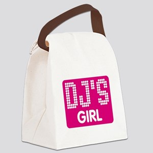 DJ's Girl Canvas Lunch Bag