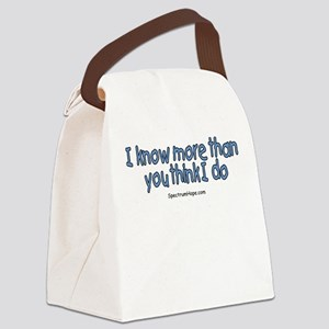 I Know More Than You Think I Canvas Lunch Bag