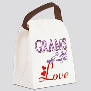 Grams Means Love Gift Canvas Lunch Bag