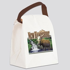 New Hampshire Moose Canvas Lunch Bag