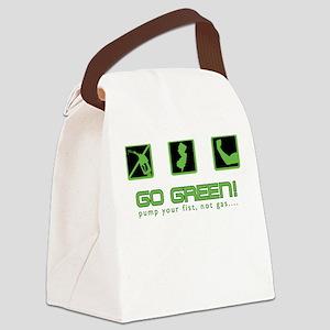 Pump Fist! Not Gas! Canvas Lunch Bag