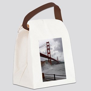 foggy golden gate Canvas Lunch Bag