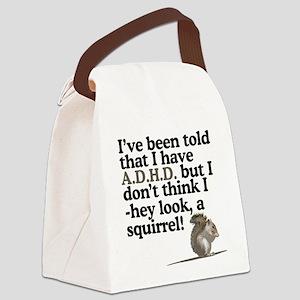 hey look, a squirrel! Canvas Lunch Bag