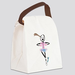 i spin, i jump Ice Skating Canvas Lunch Bag