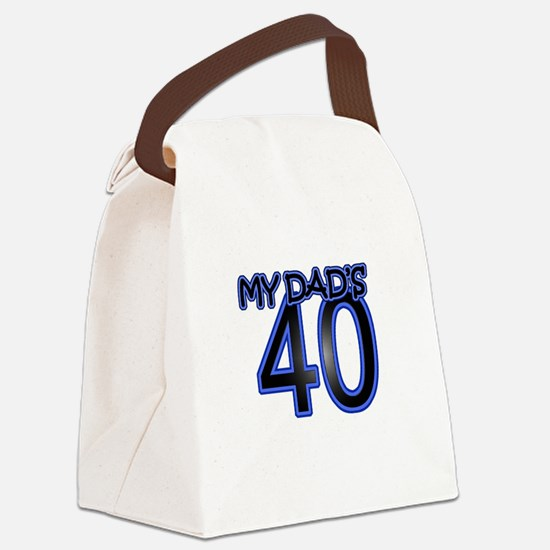 Dad's Forty Canvas Lunch Bag