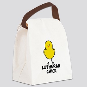 Lutheran Chick Canvas Lunch Bag