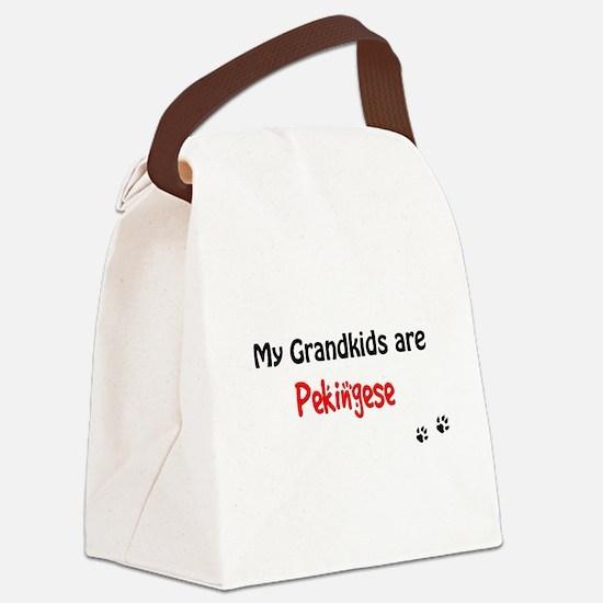 Pekingese Grandkids Canvas Lunch Bag
