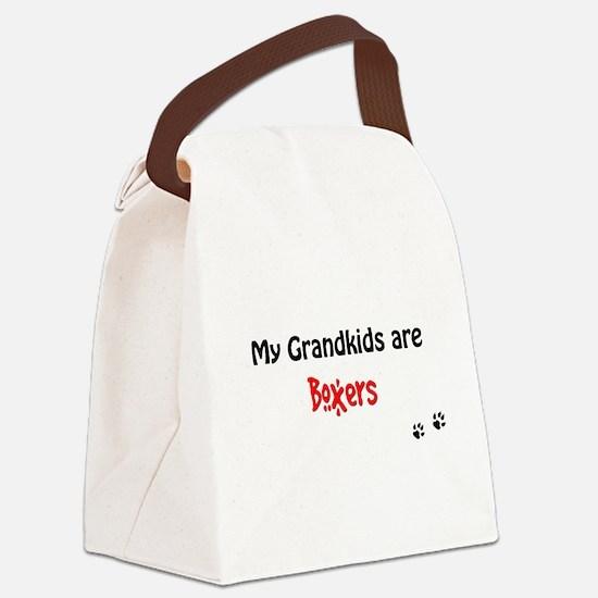 Boxer Grandkids Canvas Lunch Bag