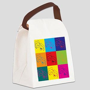Drama Pop Art Canvas Lunch Bag