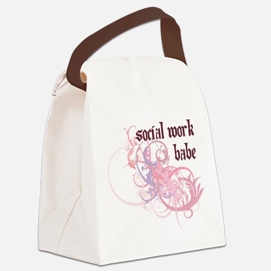 Social Work Babe Canvas Lunch Bag