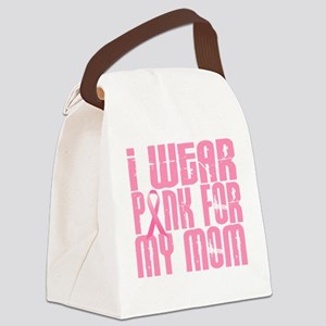 I Wear Pink For My Mom 16 Canvas Lunch Bag