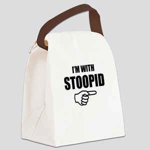 I'm With Stoopid Canvas Lunch Bag