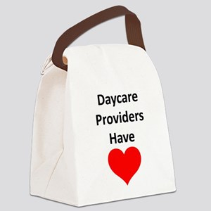 Daycare providers have heart Canvas Lunch Bag