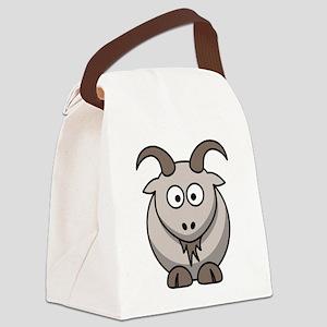 Cartoon Goat Canvas Lunch Bag