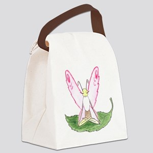 Lotus Pose Butterfly Canvas Lunch Bag