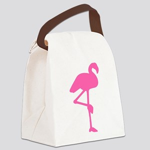 Right Facing Flamingo Canvas Lunch Bag