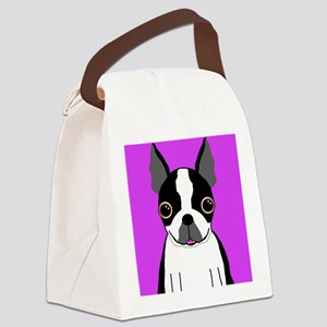 Boston Terrier (Black) Canvas Lunch Bag