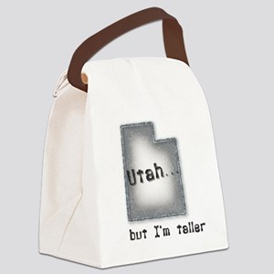 Utah, but I'm taller blue Canvas Lunch Bag