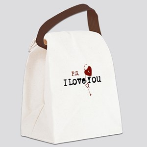 PS I Love You Canvas Lunch Bag