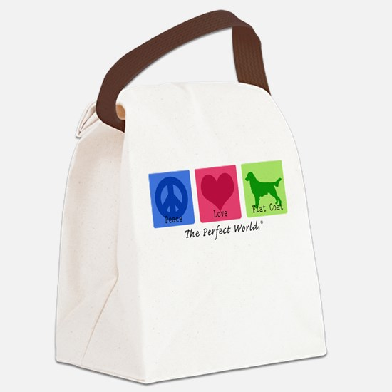 Peace Love Flat Coat Canvas Lunch Bag