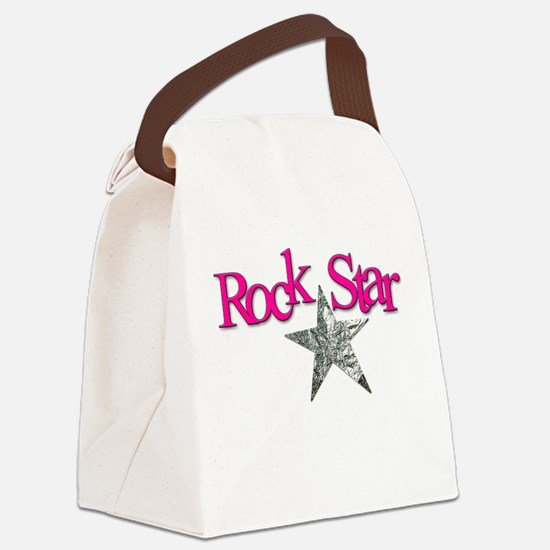 Unique Rock star mom Canvas Lunch Bag