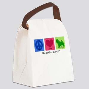 Peace Love Norwich Canvas Lunch Bag