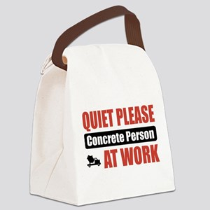 Concrete Person Work Canvas Lunch Bag