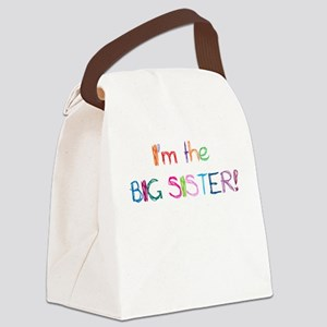 I'm the Big SISTER! Canvas Lunch Bag