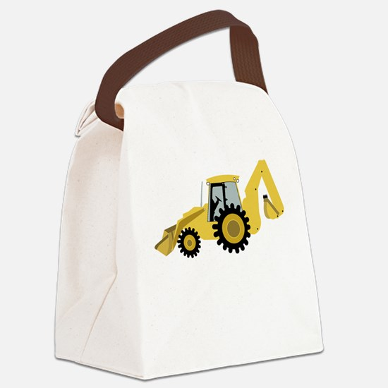 Backhoe Canvas Lunch Bag