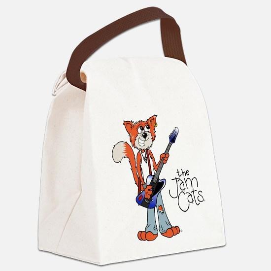 Cute Cat comics Canvas Lunch Bag