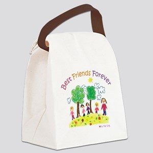 Best Friends Forever Canvas Lunch Bag