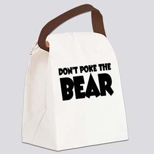 Don't Poke Bear Canvas Lunch Bag