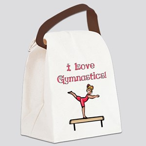 I Love Gymnastics Canvas Lunch Bag