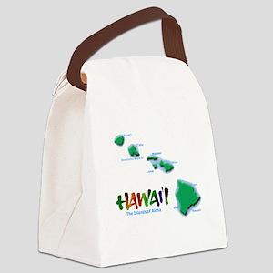 Hawaii Islands Canvas Lunch Bag