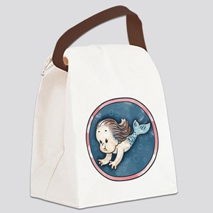 Mermaid -brunette Canvas Lunch Bag