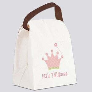 Little Twincess Canvas Lunch Bag