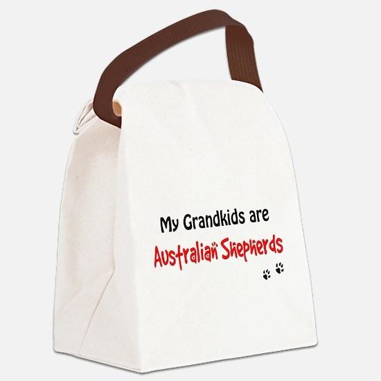 Australian Shepherd Grandkids Canvas Lunch Bag