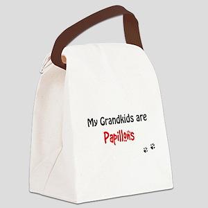 Papillon Grandkids Canvas Lunch Bag