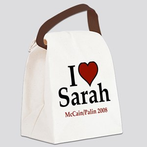 I Heart Sarah Palin Canvas Lunch Bag
