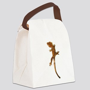 """""""Crested Gecko Climbing"""" Canvas Lunch Bag"""