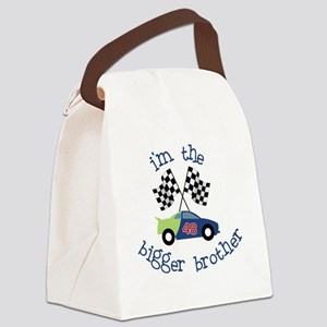 bigger brother race Canvas Lunch Bag