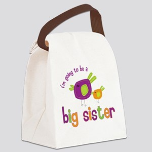 big sister t-shirts birdie Canvas Lunch Bag