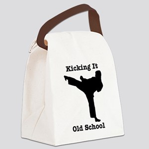 Kicking It Old School Canvas Lunch Bag