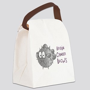 Brain Cancer Blows! Canvas Lunch Bag