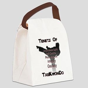 Traditional Taekwondo Tenets Canvas Lunch Bag